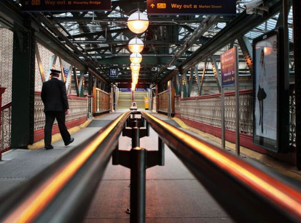 Walk the line: Waverley Station in Edinburgh