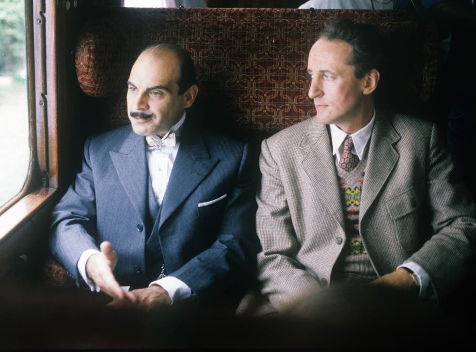 David Suchet and Hugh Fraser in a 1989 episode of Poirot. David Suchet  will appear in a wheelchair for the last ever episode of 'Poirot'
