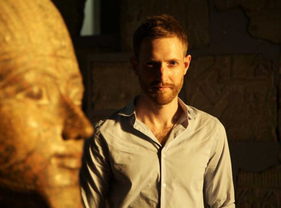 Royal riddle: Dr Chris Naunton believes the pharaoh's body was burnt