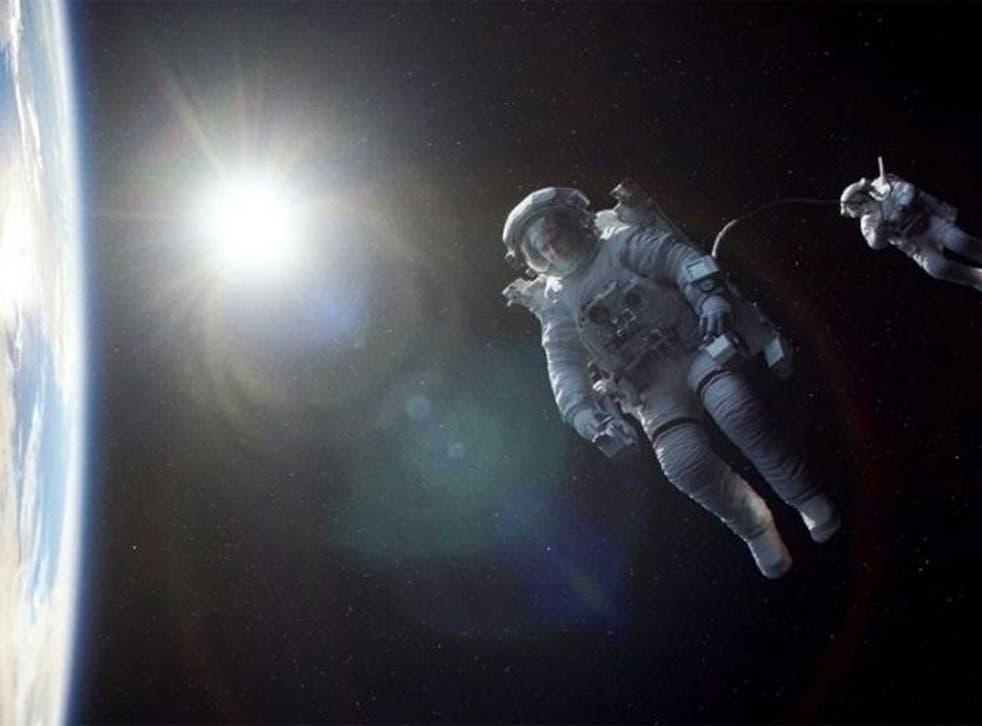Gravity: starring Sandra Bullock and George Clooney