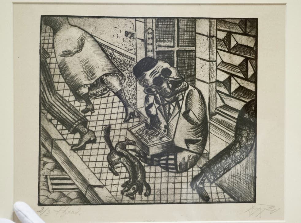The Nazis deemed works such as Otto Dix's 'The Match Seller' to be degenerate