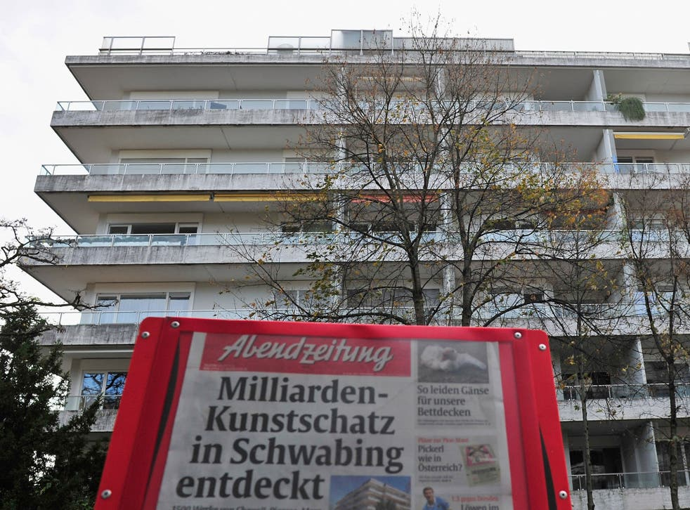 The apartment building that is the residence of Cornelius Gurlitt, where according to media reports customs agents seized 1,500 paintings that had been confiscated by the Nazis in the 1930s and 40s