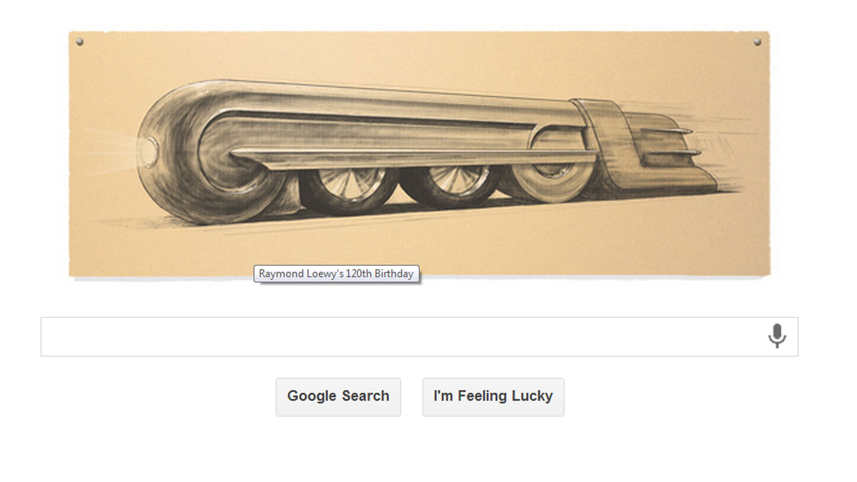 Raymond loewy google doodle celebrates 120th birthday of for Industrial design news