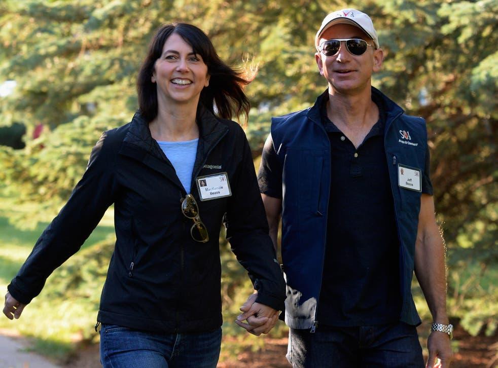 MacKenzie Bezos with her husband, Amazon founder Jeff Bezos