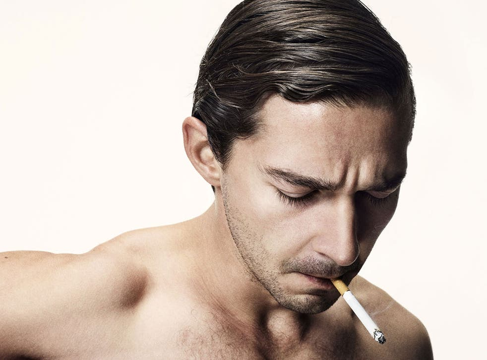 Shia LaBeouf appears on a poster for Lars von Trier's Nymphomaniac