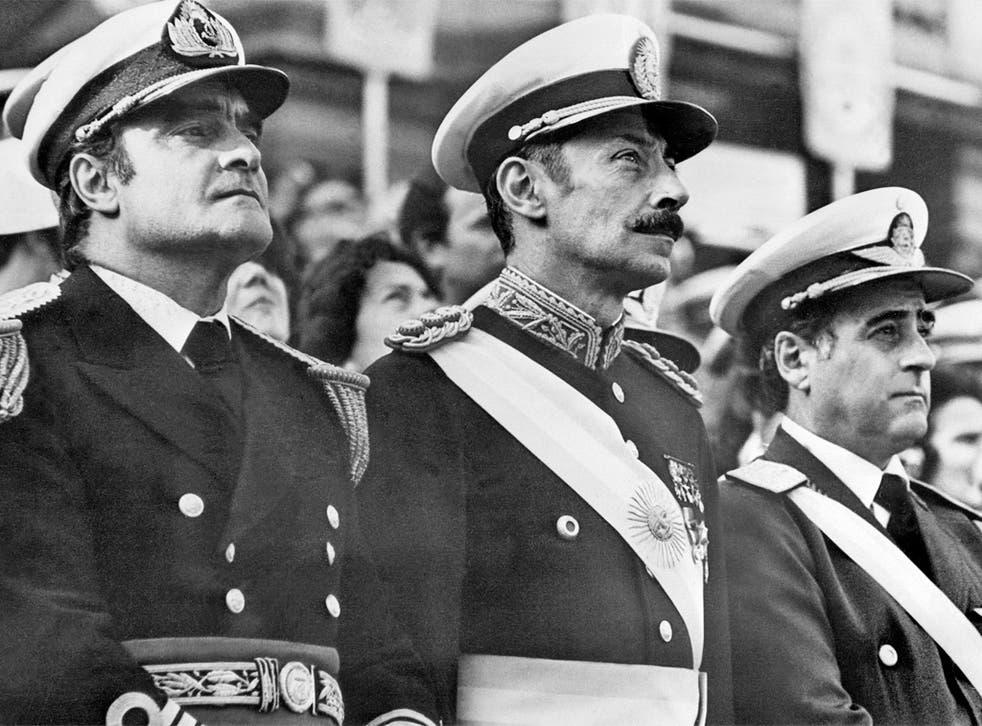 The junta in 1977: Admiral Emilio Massera, President Jorge Videla and General Orlando Agosti