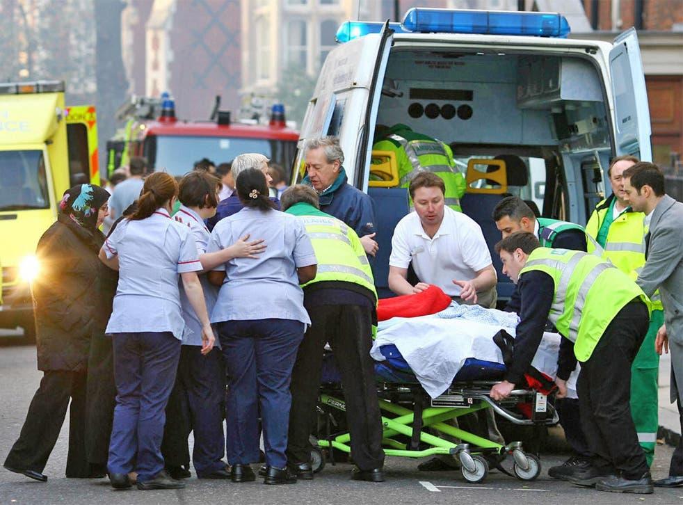 Emergency staff can be under huge pressure