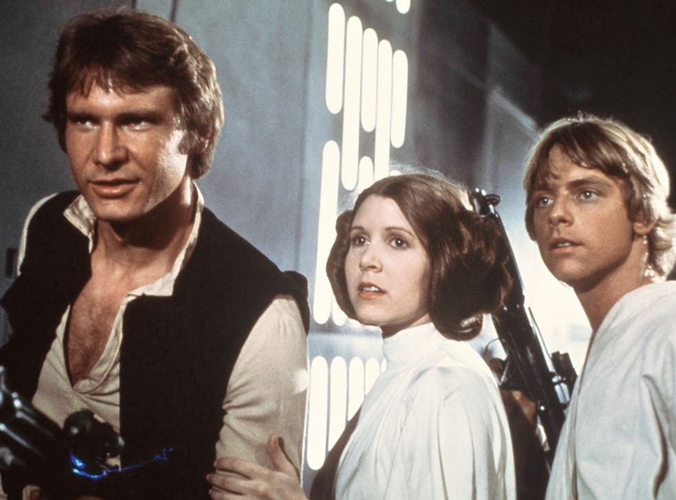 Carrie Fisher, centre, is returning to her iconic role as Princess Leia