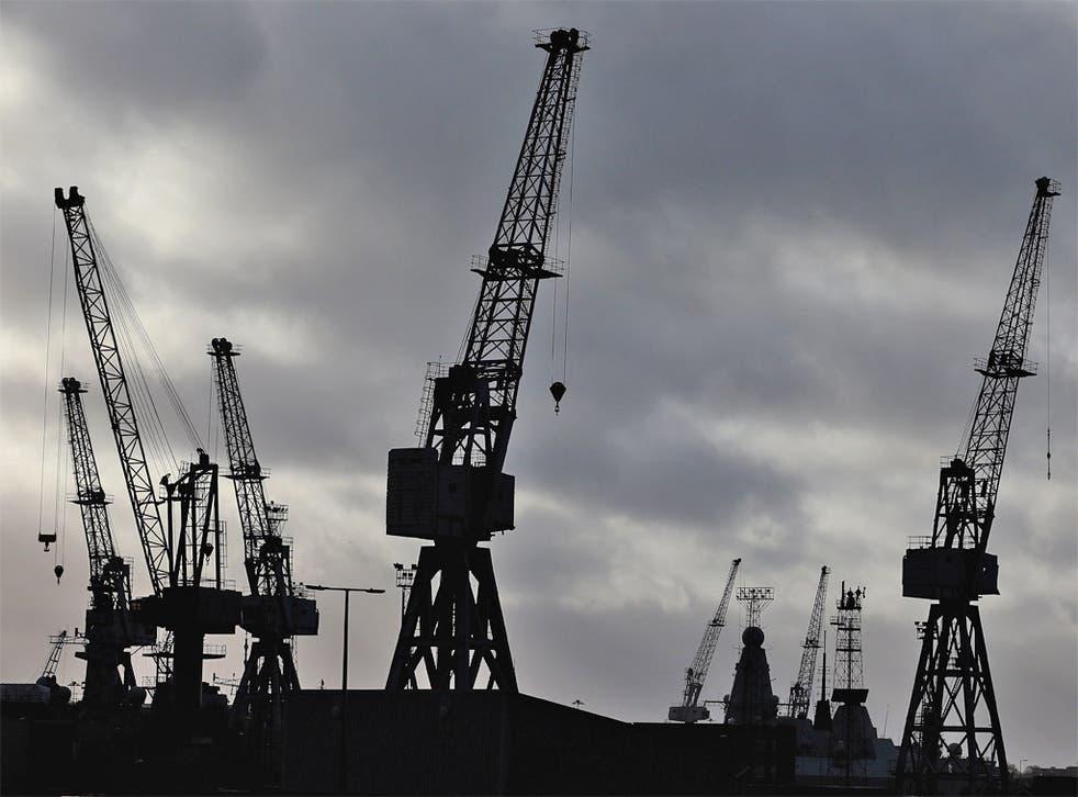 The HM Naval Base in Portsmouth dockyard