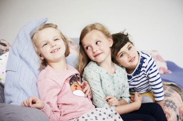 Boden's latest model, seven-year-old Holly Greenhow (far left), has athetoid cerebral palsy