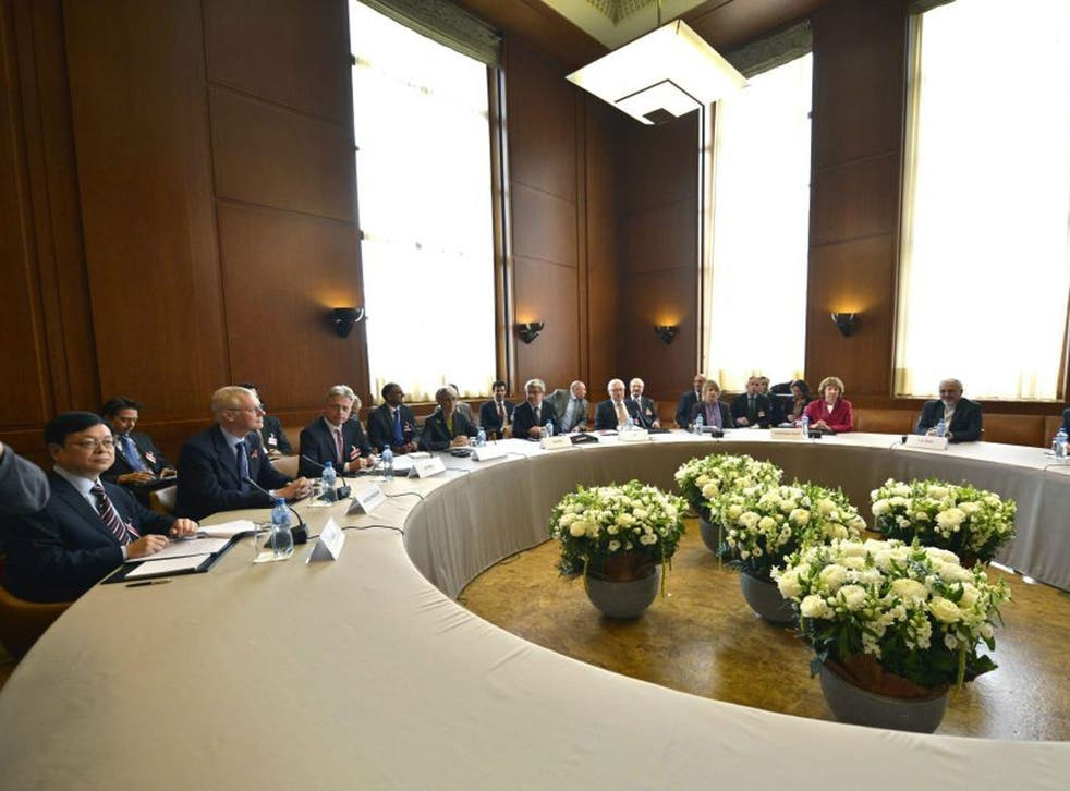 The start of two days of closed-door nuclear talks at the United Nations offices in Geneva Switzerland