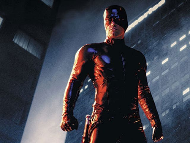Ben Affleck as Daredevil, a Marvel superhero. The character is being given a Netflix series