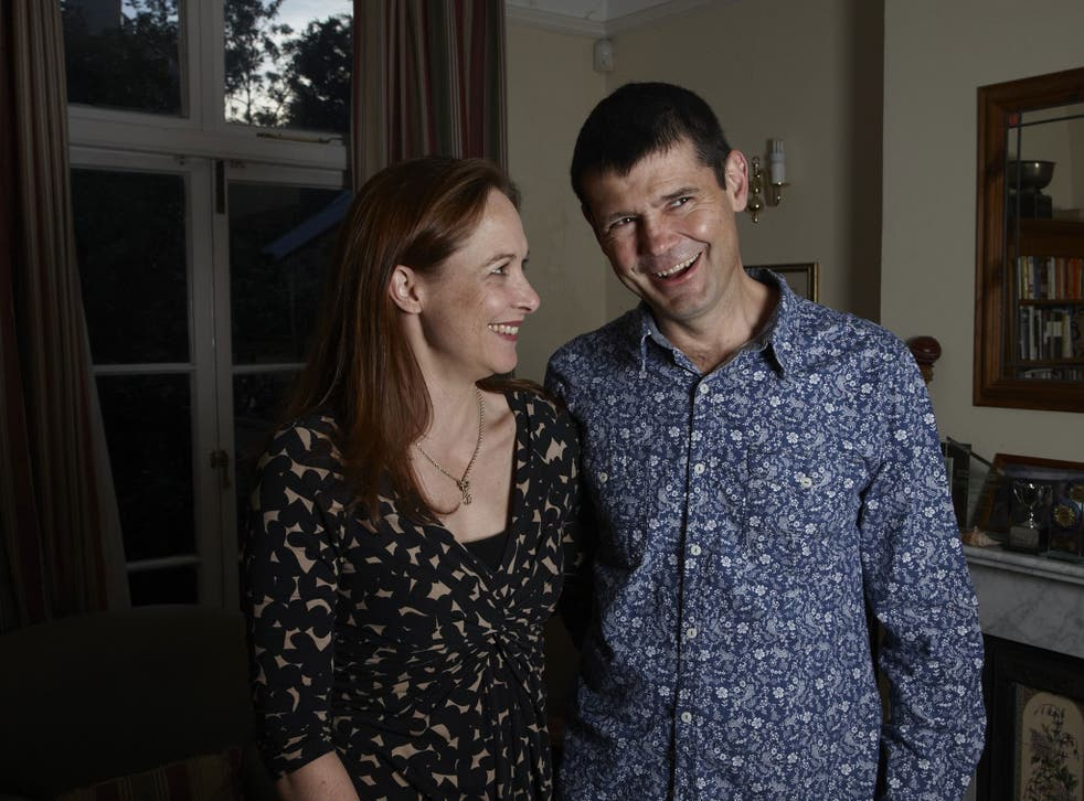 Home comfort: Dominic, here with his wife, Rachel, featured in 'Bedlam' on Channel 4