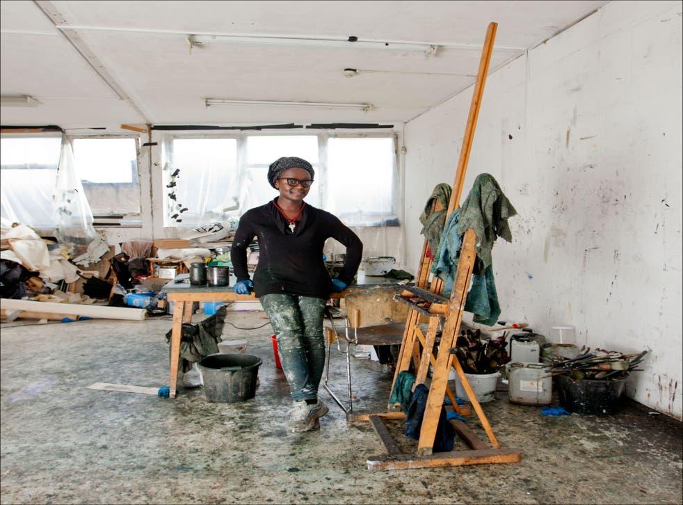 A big splash: Lynette Yiadom-Boakye in her east London studio