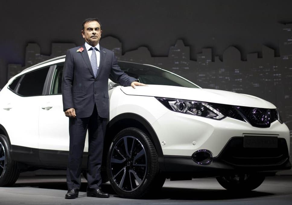 Carlos Ghosn CEO of Nissan at the launch of Nissans new Qashqai model who has warned the car maker would reconsider its future in the UK if it left the European Union