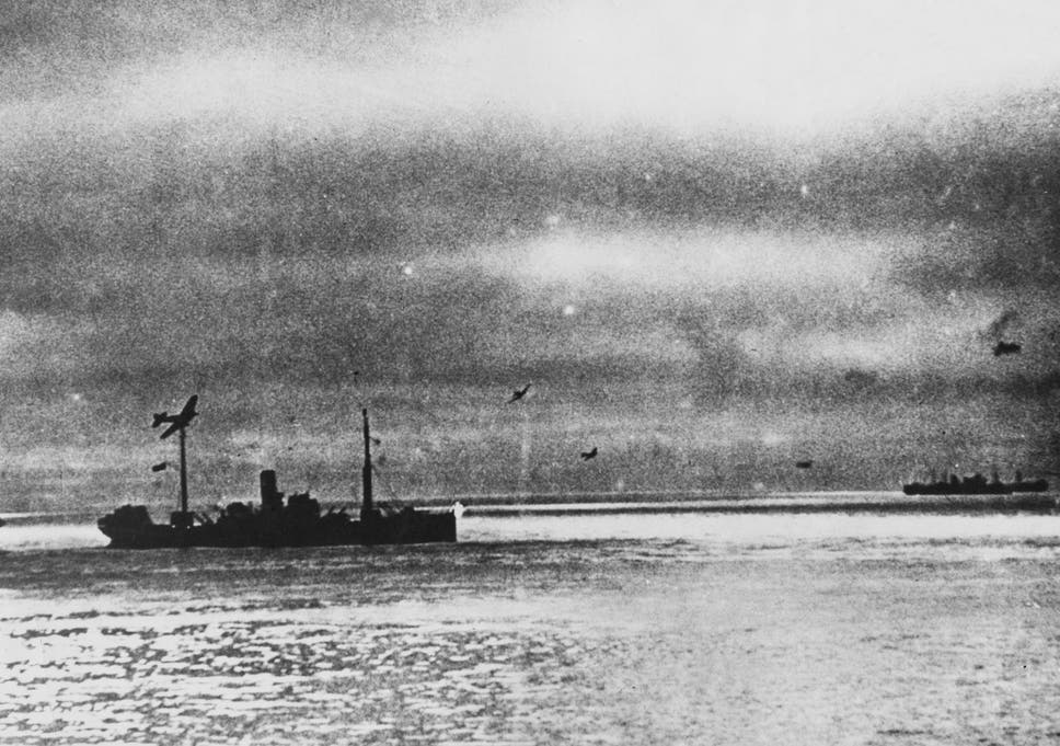 dd411b0064d6c6 Allied World War II convoy PQ 17 is attacked by German torpedo aircraft on  its way