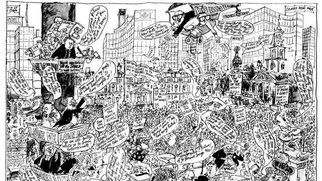 Timothy Birdsall satirises Swinging London