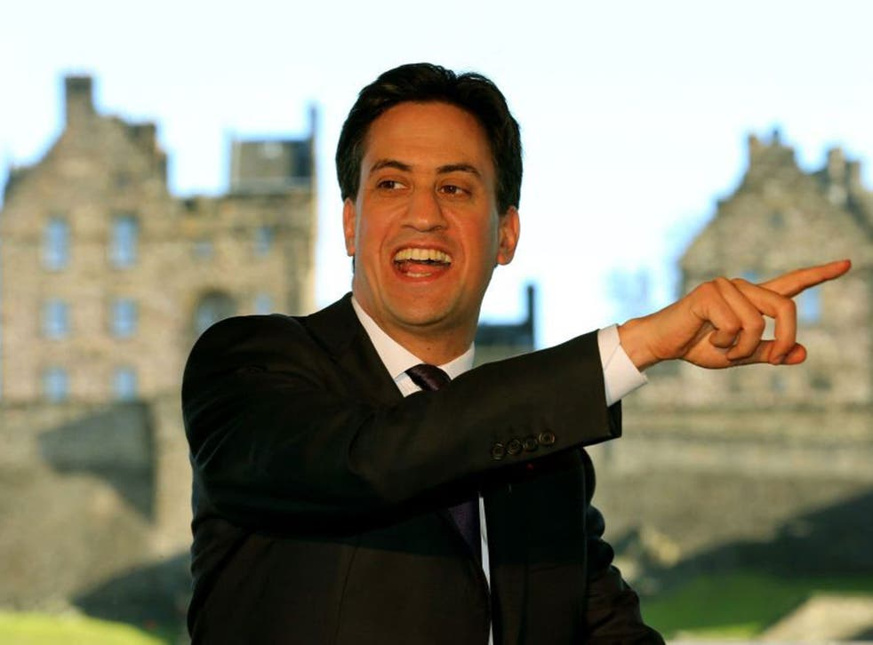 Labour leader Ed Miliband during a Q&A session at the Standard Life building in Edinburgh, Thursday 7 November