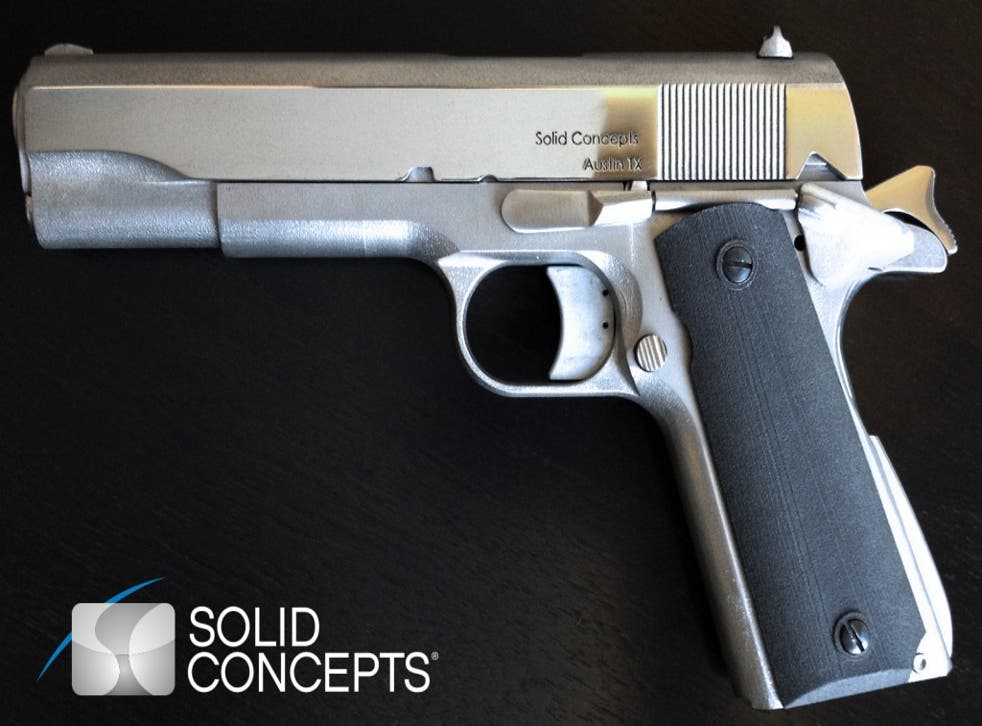 An image of the pistol created by Solid Concepts.