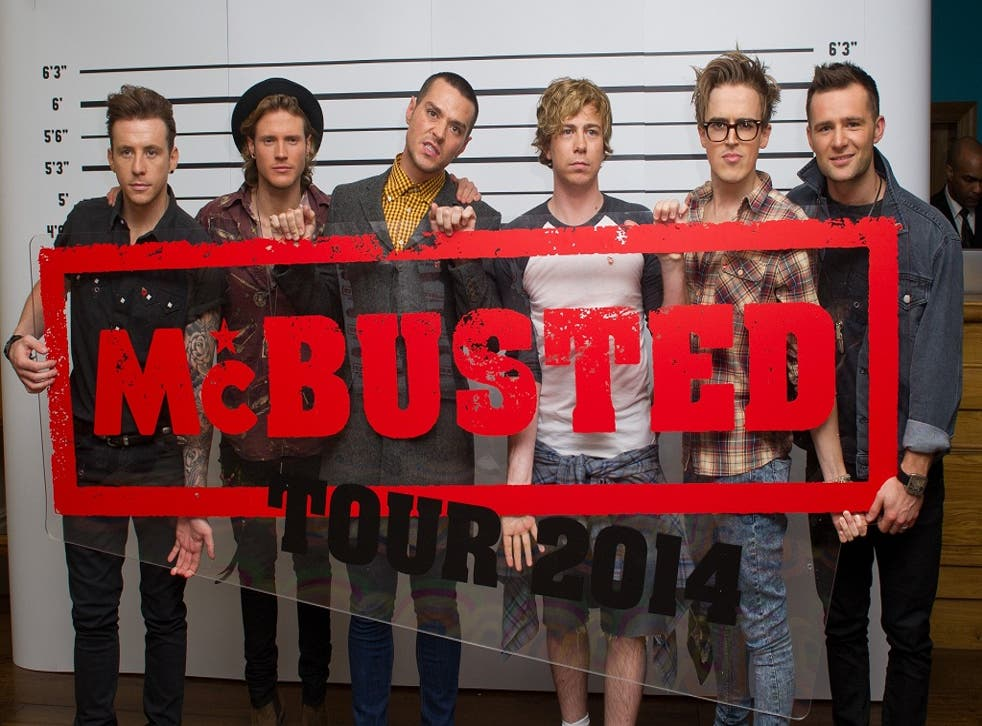 Busted and McFly attend a press conference to announce the McBusted 2014 arena tour at the Soho Hotel on 11 November 2013