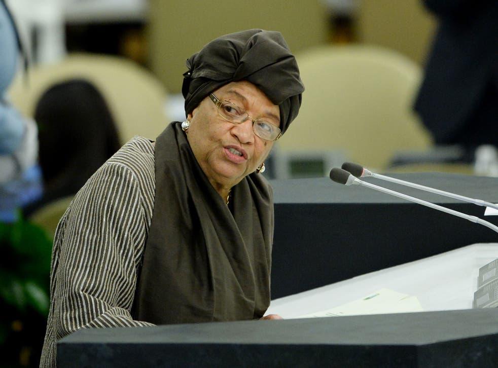 Ellen Johnson Sirleaf's motorcade commander has been arrested for allegedly smuggling 300kg of cannabis