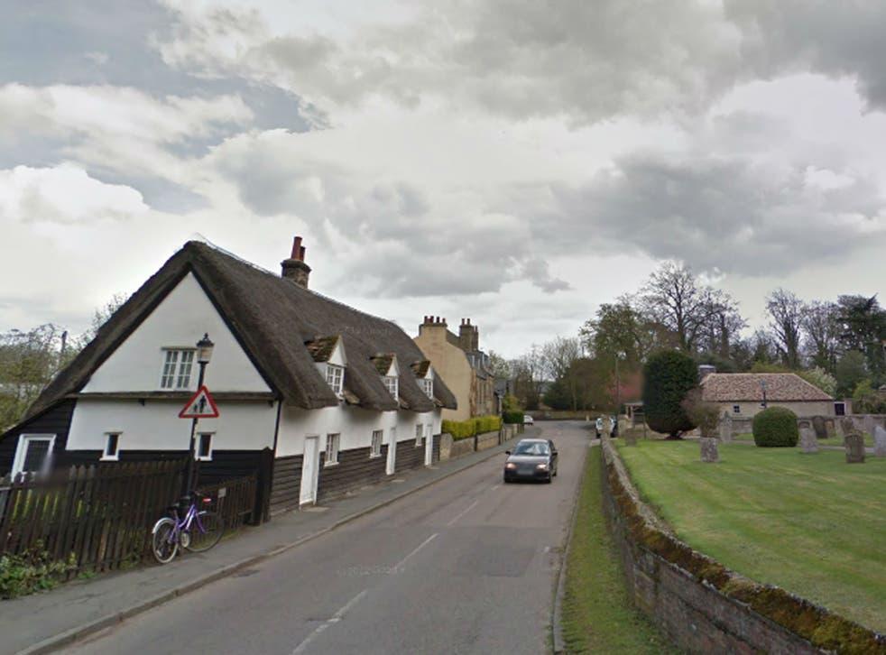 Trumpington, Cambridge, where the encounter happened