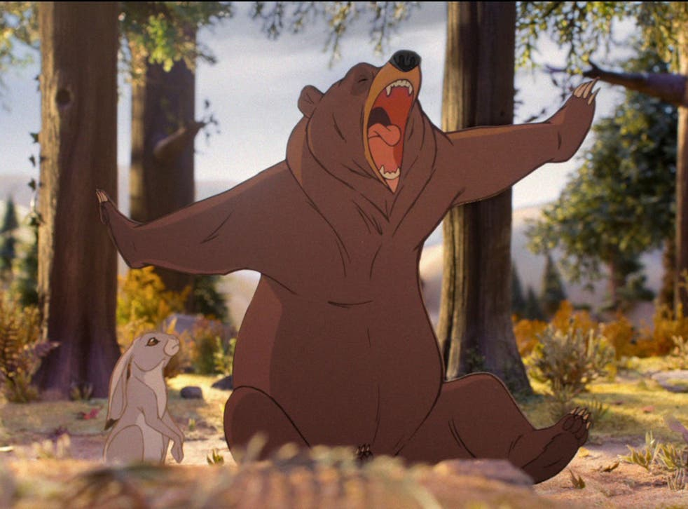 Bear and hare woodland scene from John Lewis Christmas advert