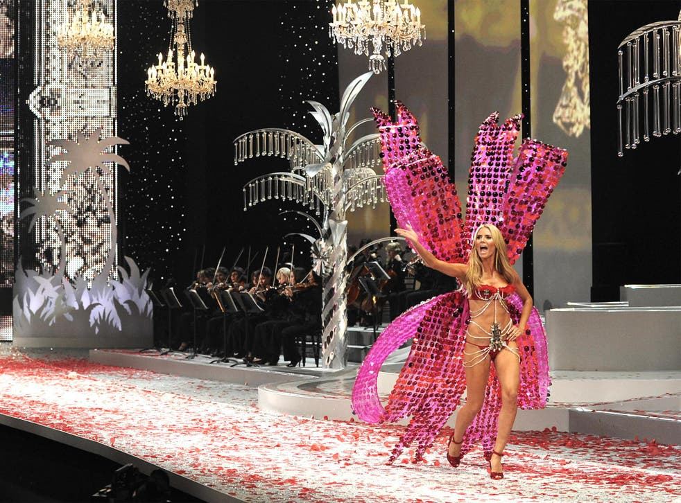 Heidi Klum, the most famous Angel, at the annual show