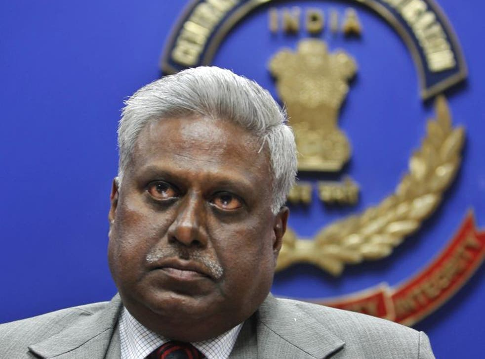 India's Central Bureau of Investigation (CBI) director Ranjit Sinha addresses a press conference. He came under fire today for controversial comments regarding rape