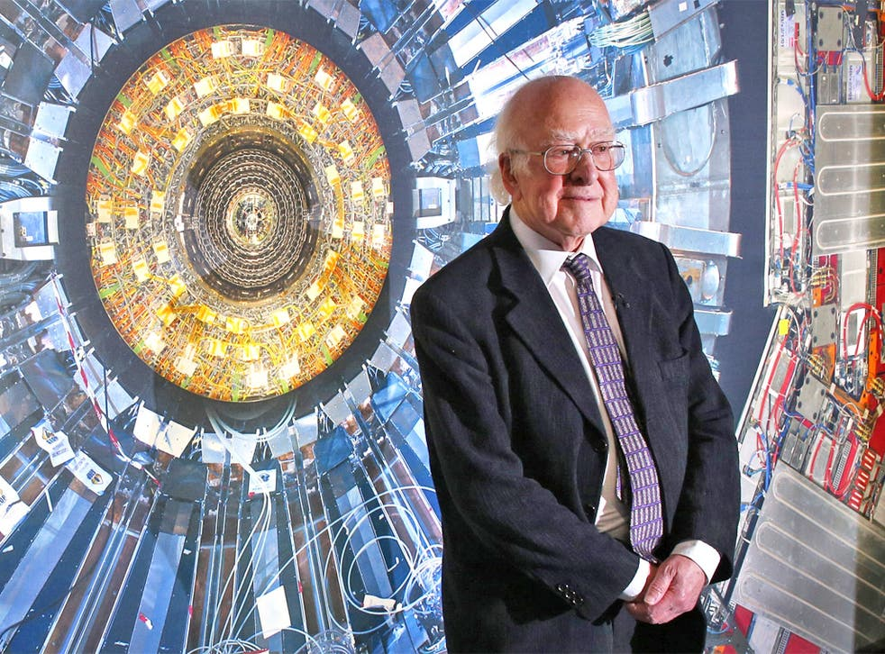 Professor Peter Higgs at the launch of the Science Museum's 'Collider' exhibition