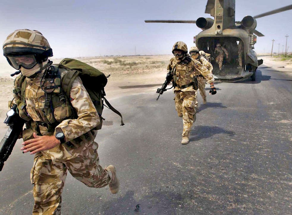British Army soldiers in Basra, southern Iraq, 2004