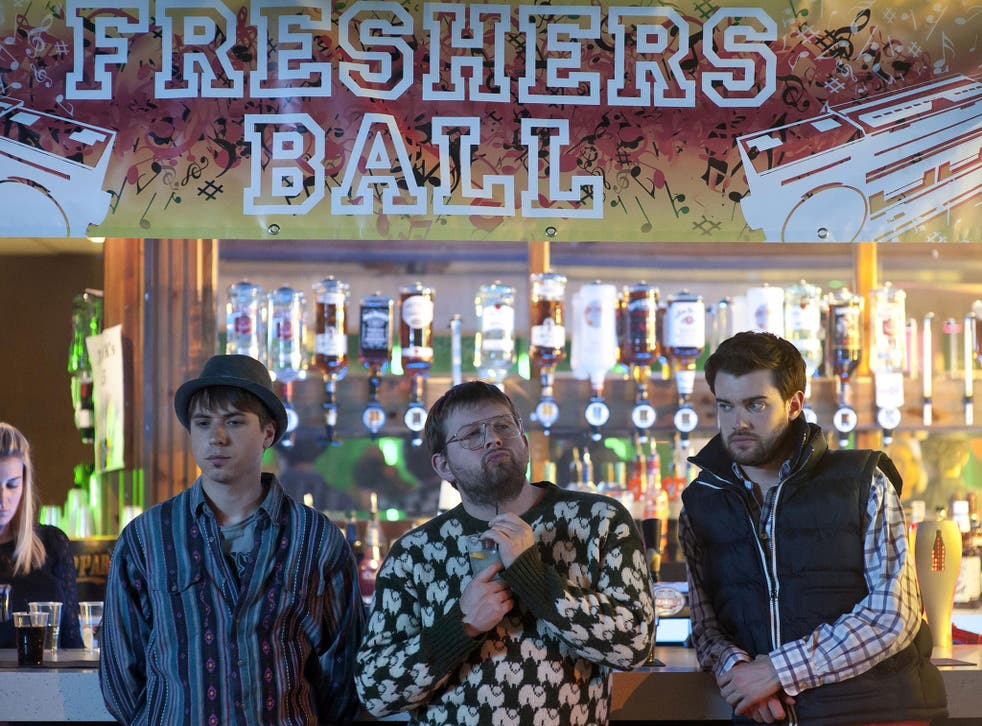 That's the spirit: Joe Thomas, Greg McHugh and Jack Whitehall in 'Fresh Meat'