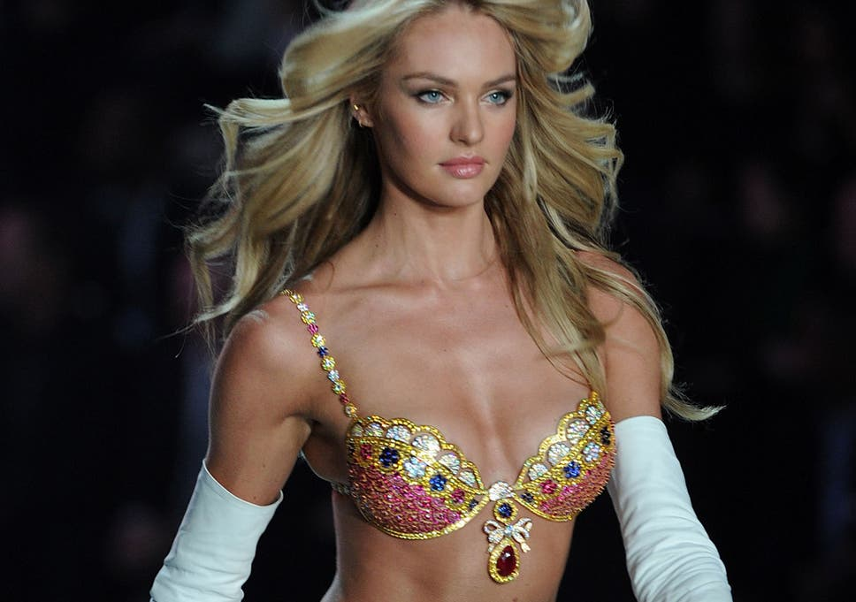 5d8669d918 Model Candice Swanepoel sported the Royal Fantasy Bra and Belt at the  Victoria s Secret Fashion Show