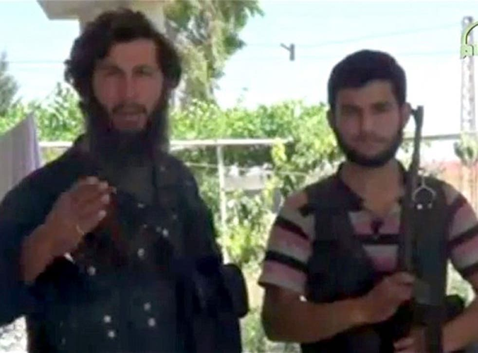 Mohammed Fares (left), was an anti-government fighter and member of Ahrar al-Sham