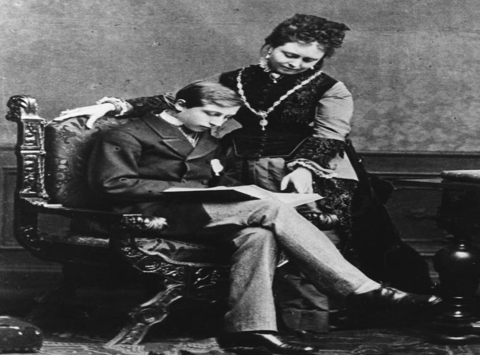 Wilhelm II with his mother the Empress Victoria, daughter of Queen Victoria of Great Britain