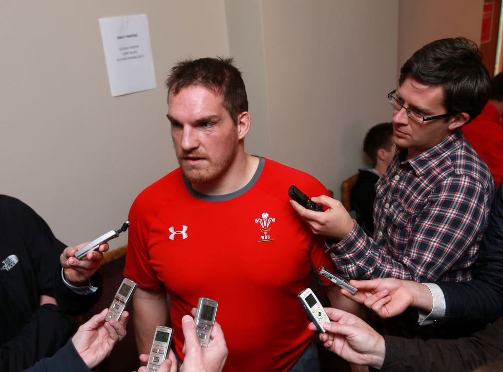 Gethin Jenkins has been the centre of attention in the Wales camp this week