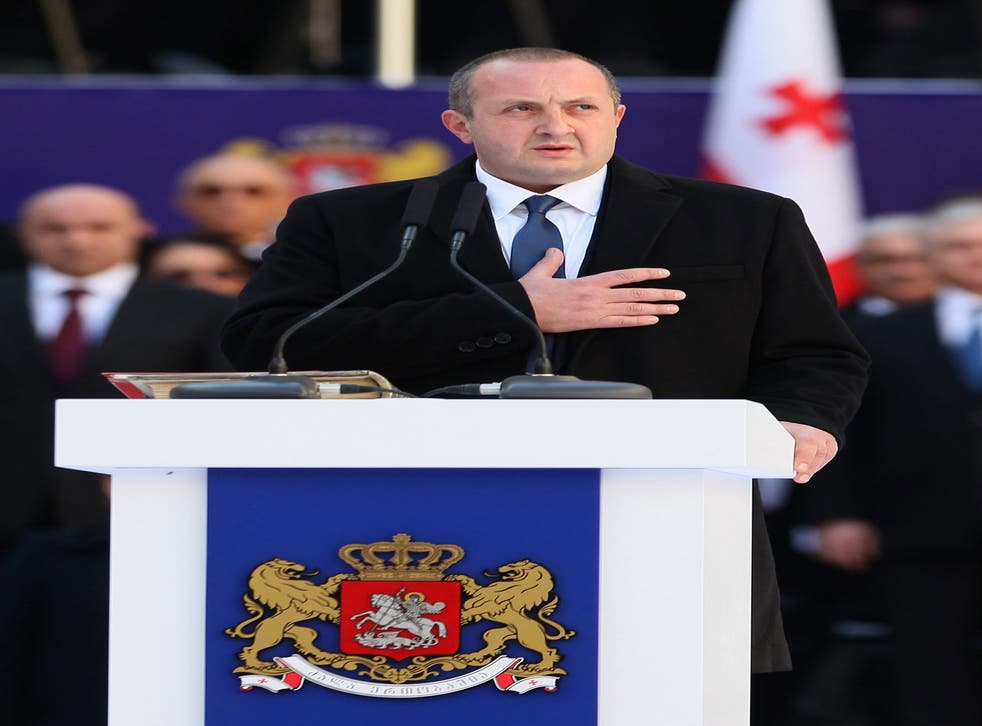 President Georgi Margvelashvili acknowledges that he owes his position to Mr Ivanishvili