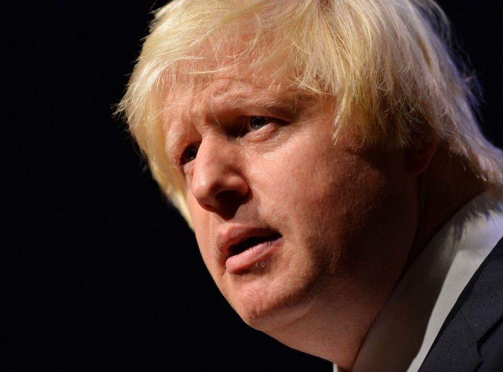 London Mayor Boris Johnson says people should stop 'bashing' the super-rich