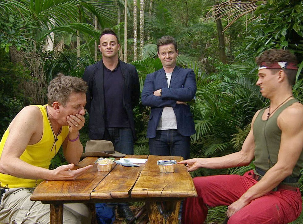 Matthew Wright and Joey Essex during the Bushtucker Trial