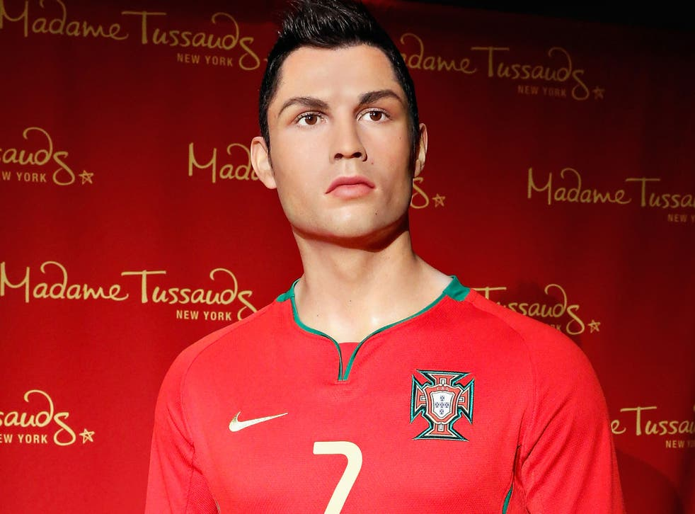 The Madame Tussauds waxwork model of Cristiano Ronaldo