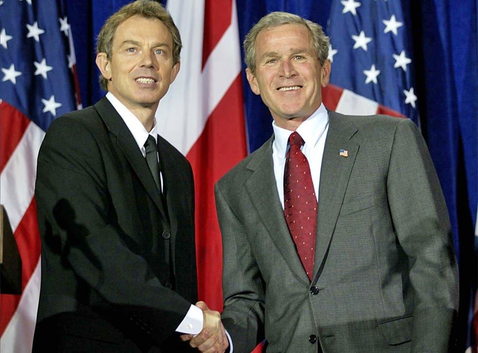 Tony Blair with President Bush in 2002