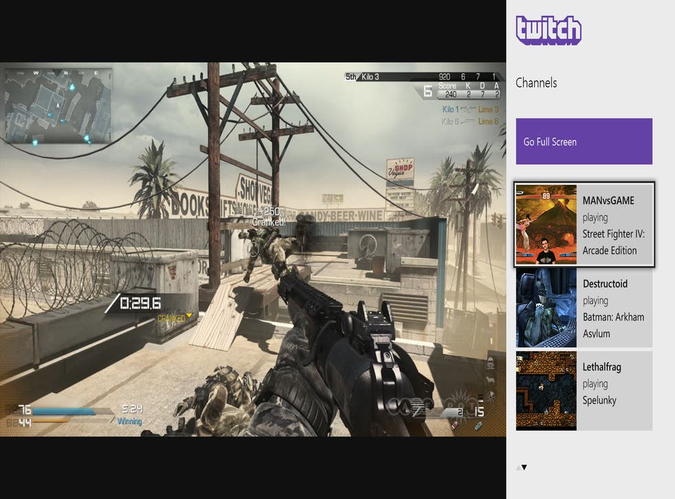 Twitch on the Xbox One can be snapped to the side of the screen so players can continue their game whilst navigating channels.