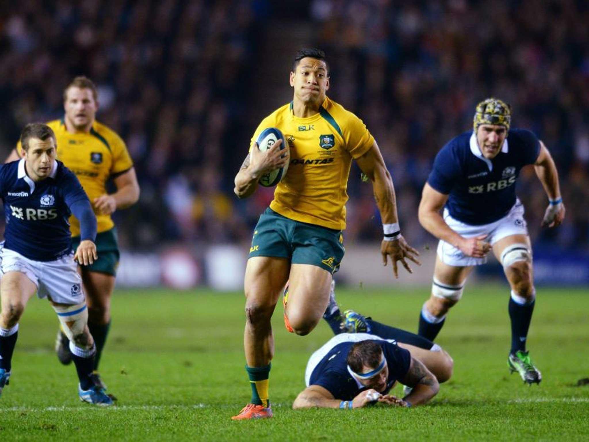Scotland 15 Australia 21 Match Report Israel Folau Bursts Bubble