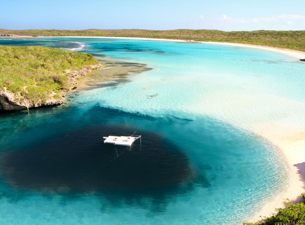 Dean's Blue Hole is the world's deepest known blue hole with seawater - it is also where Nicholas Mevoli took his last dive