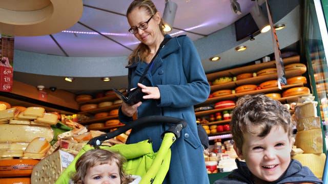 Going Dutch: Senay Boztas shopping with her children