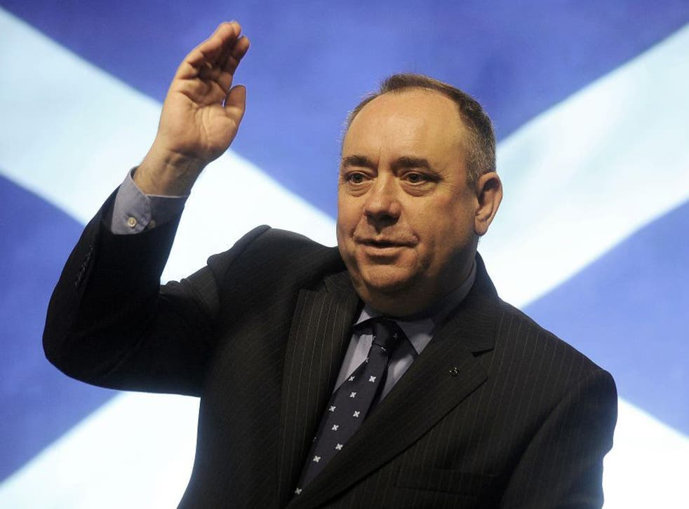 Danny Alexander, the Liberal Democrat Chief Treasury Secretary, has written to Alex Salmond, the First Minister of Scotland (pictured), to warn him about an average £1,000 rise in income tax per person