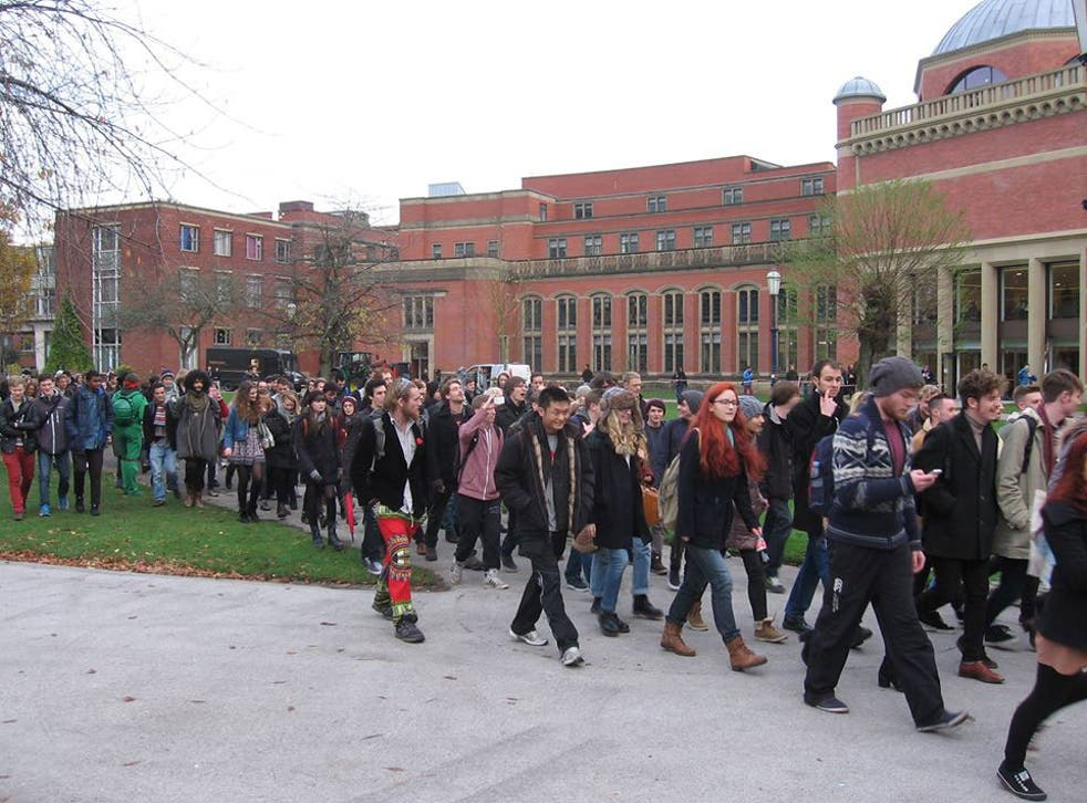 Marchers in support of Occupy Birmingham