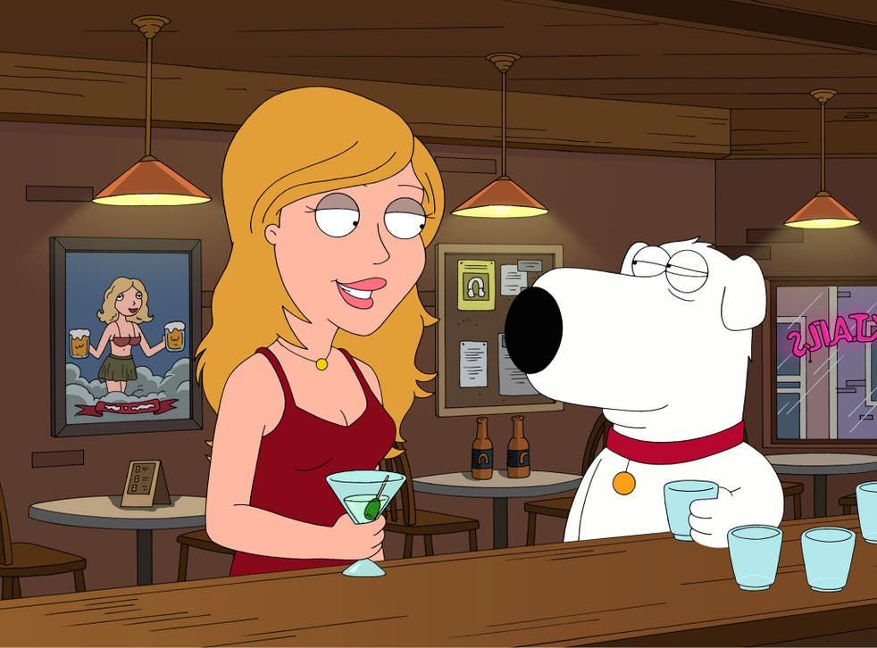 Brian Griffin chats up Lauren Conrad in Family Guy season seven