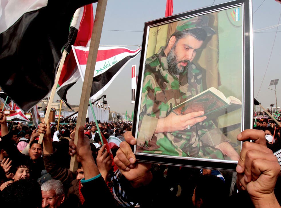 Supporters of Muqtada al-Sadr celebrate the departure of US troops from Sadr City last year