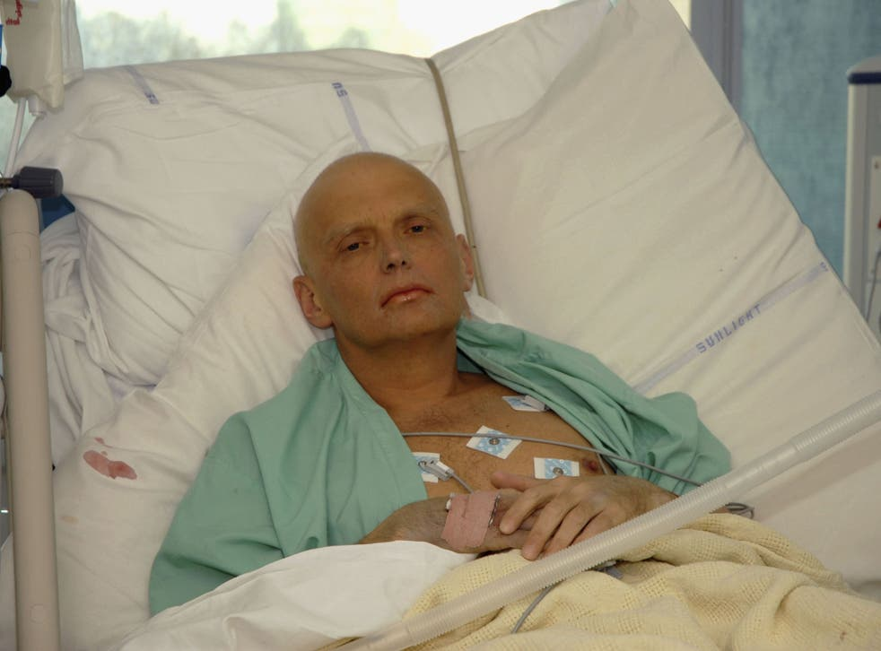 Alexander Litvinenko is pictured at the Intensive Care Unit of University College Hospital in 2006 - secret services allegedly asked the late spy to provide 'expert analysis' on a confidential Foreign Office report
